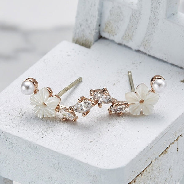 Lily cubic climber earrings
