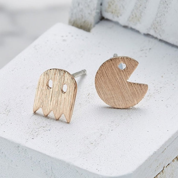 Pac-man earrings
