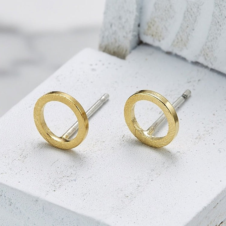 E047_Line circle small earrings