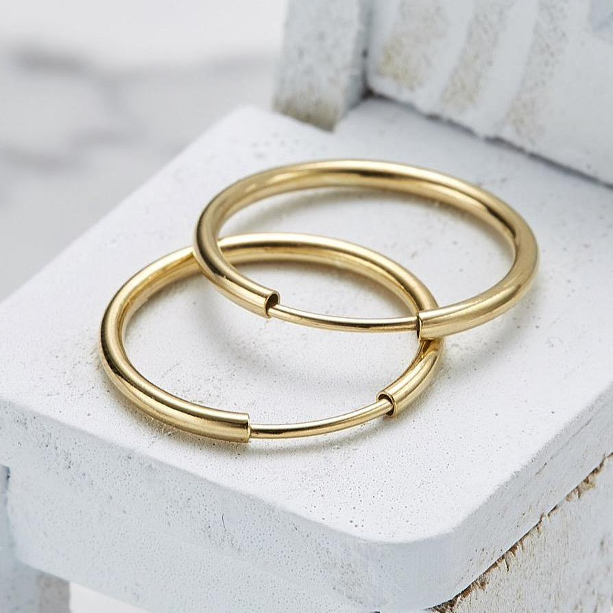 925 17mm hoop earrings