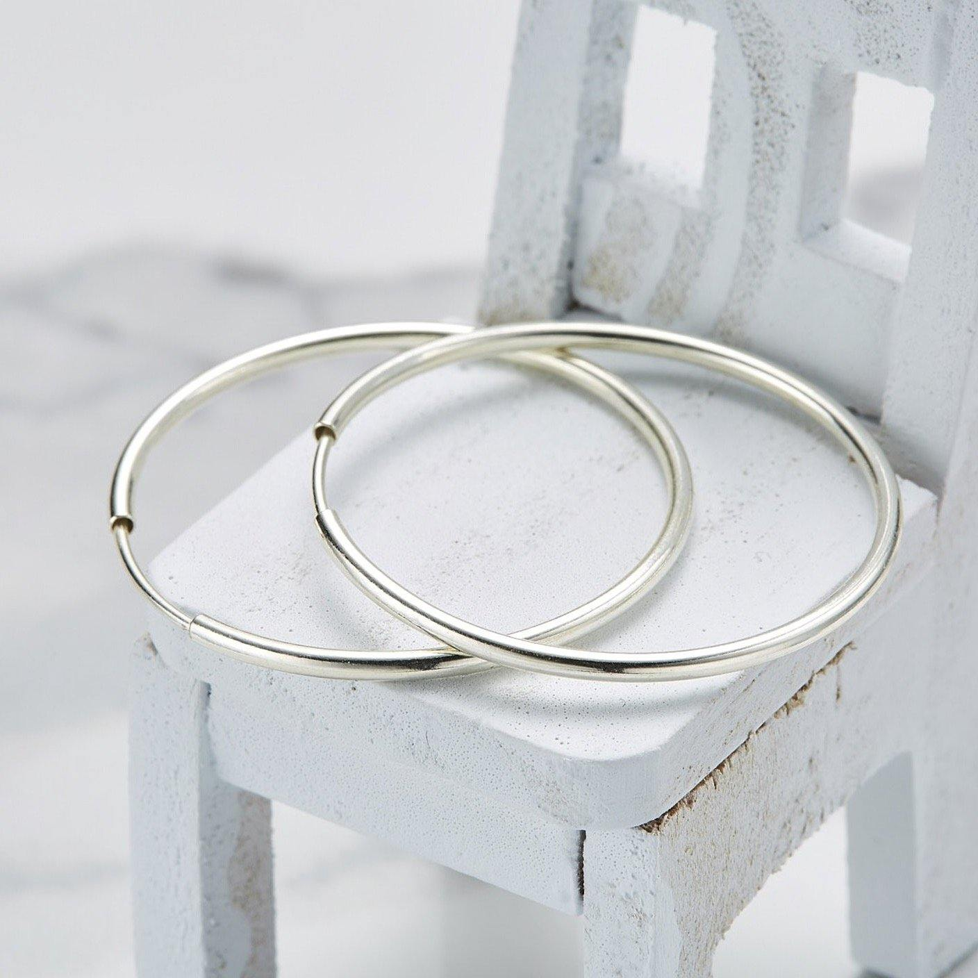 925 30mm hoop earrings