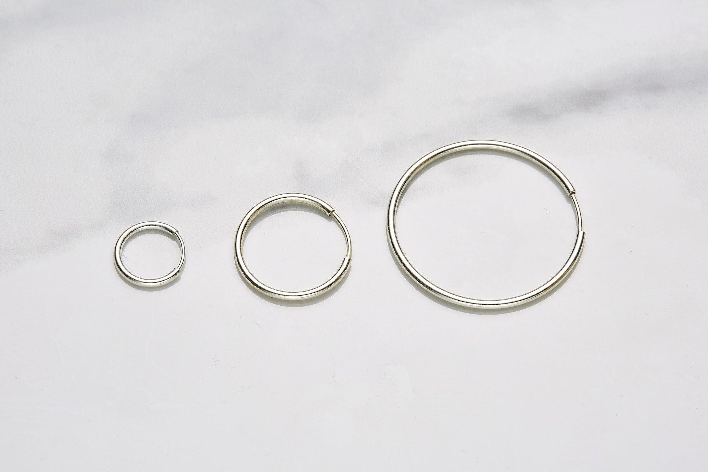 17mm hoop earrings