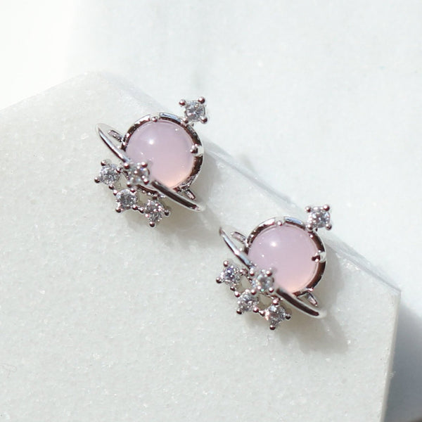 Pink ufo Earrings
