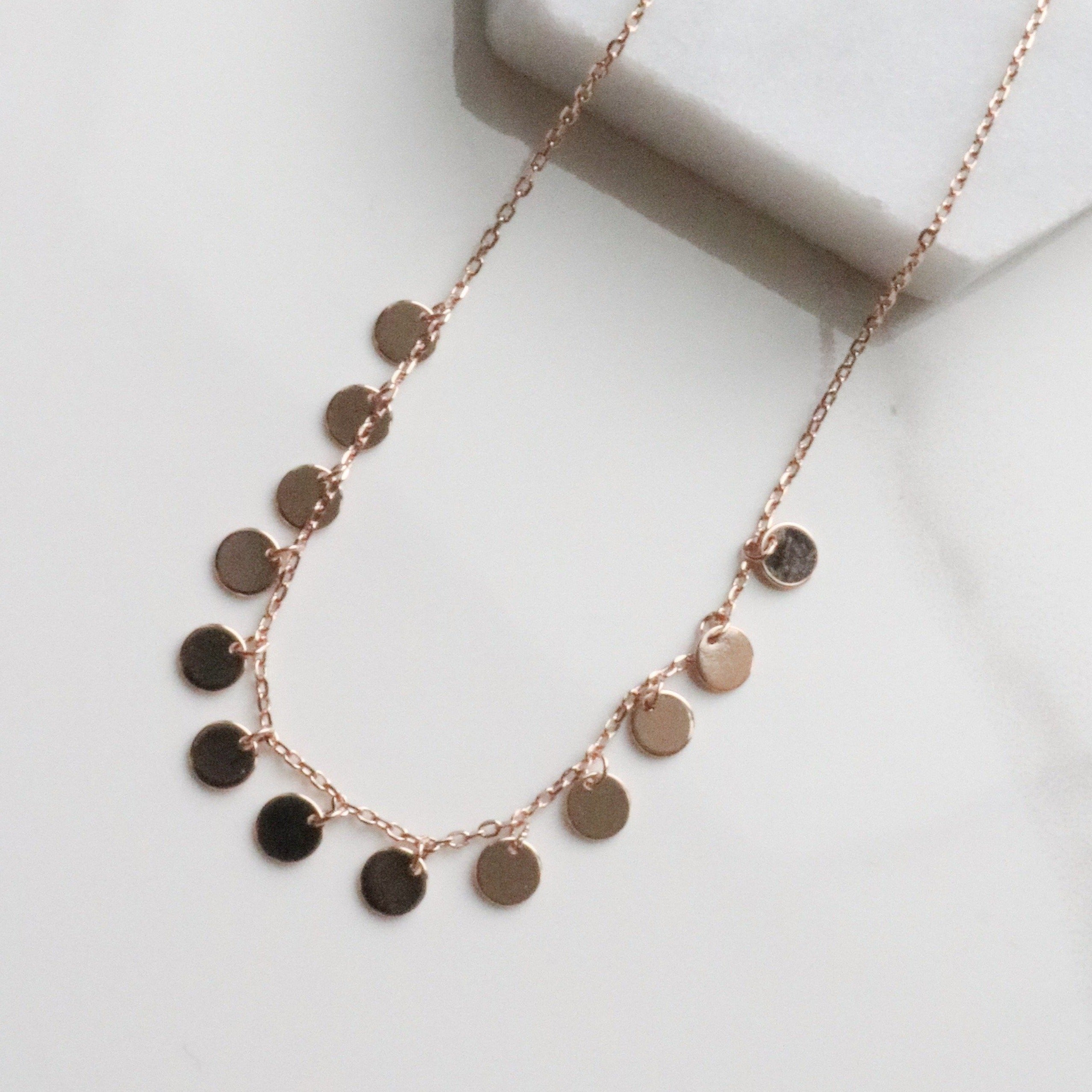 Sequin circle necklace