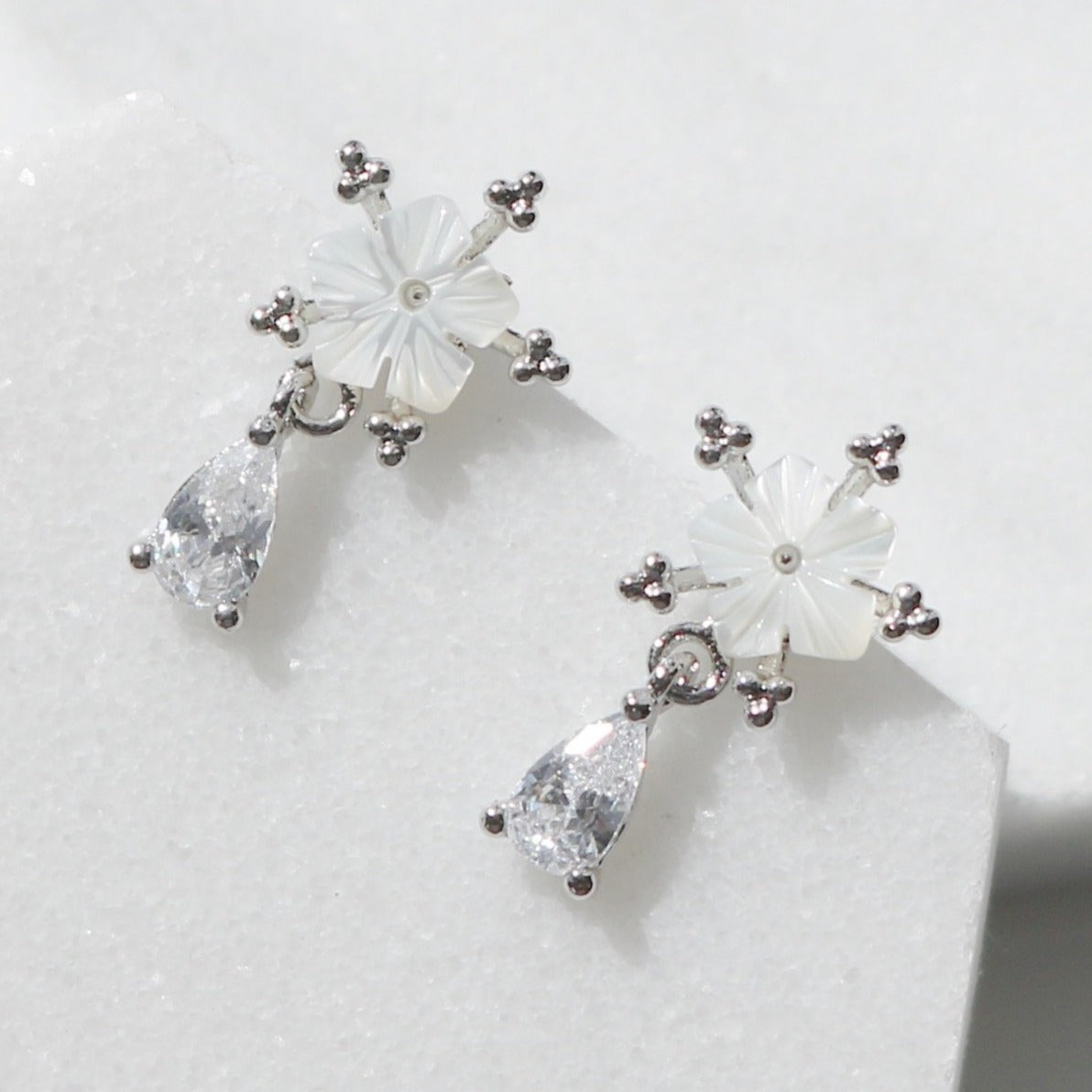 Lily dew drop earrings