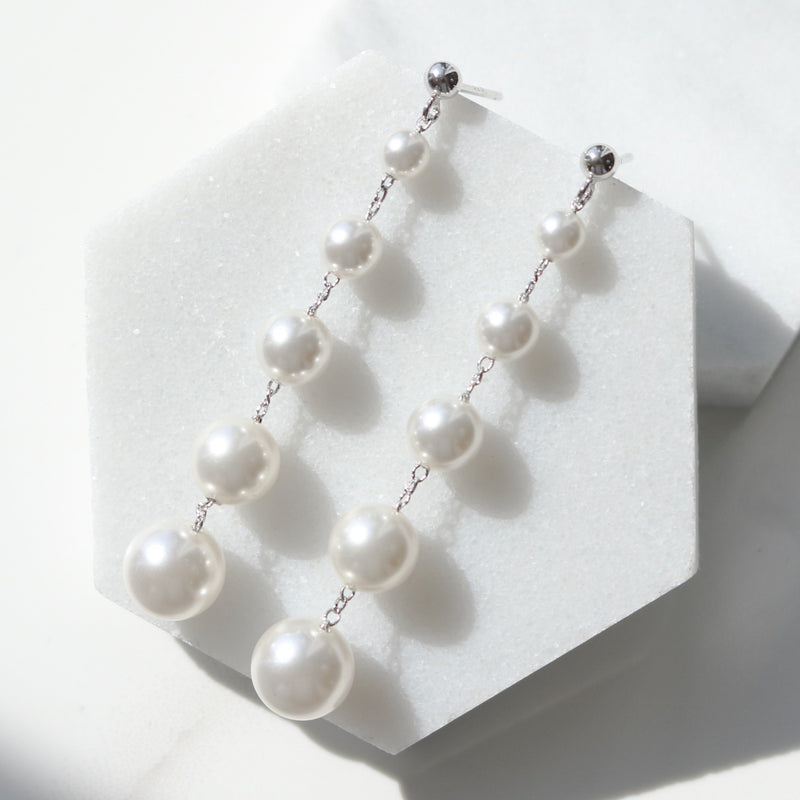 Relay pearl drop earrings