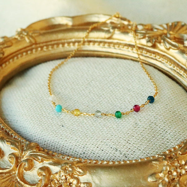 Rainbow gemstones bracelet - NABILONDON