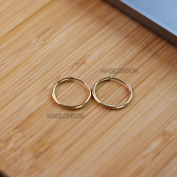 17mm hoop earrings (pair) - NABILONDON