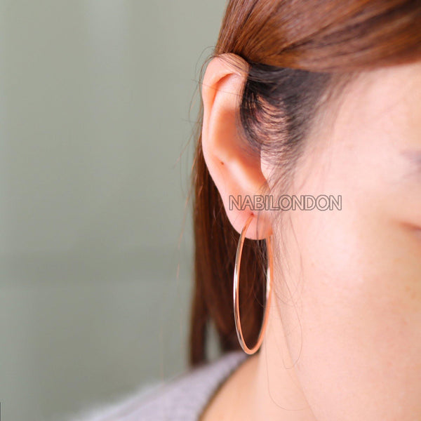 50mm hoop earrings (pair) - NABILONDON