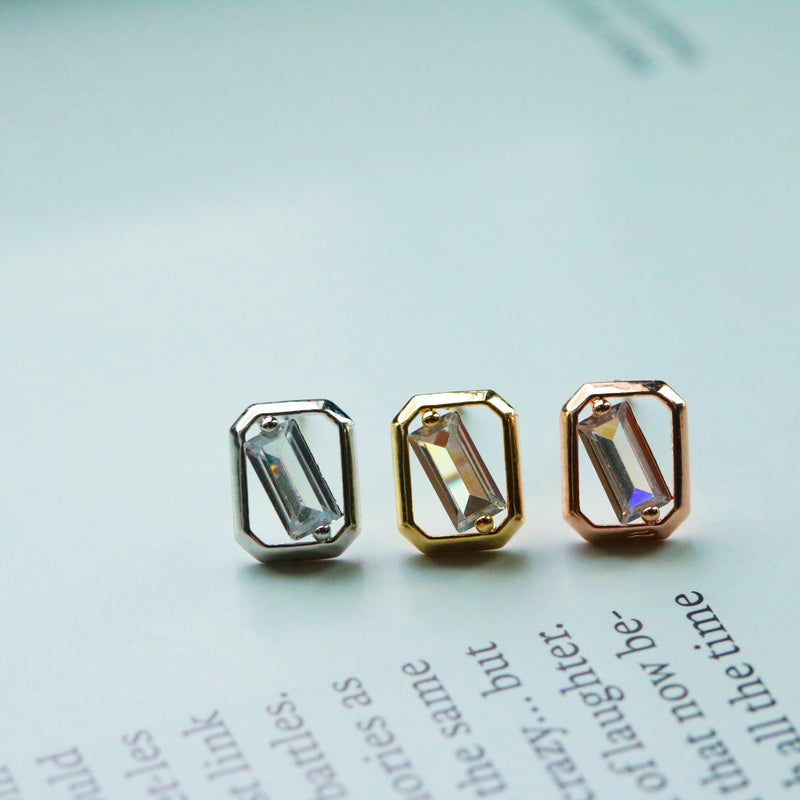 Square cubic earrings