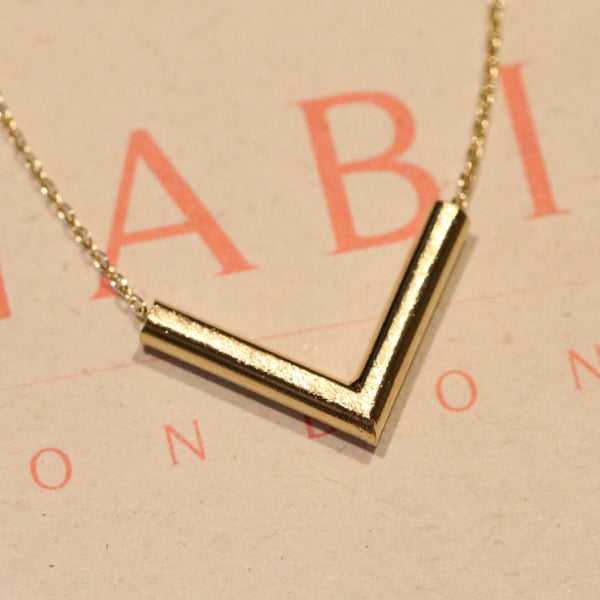 Bold V necklace