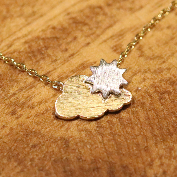 Two tone cloud necklace