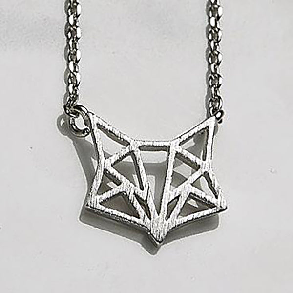 Line fox necklace