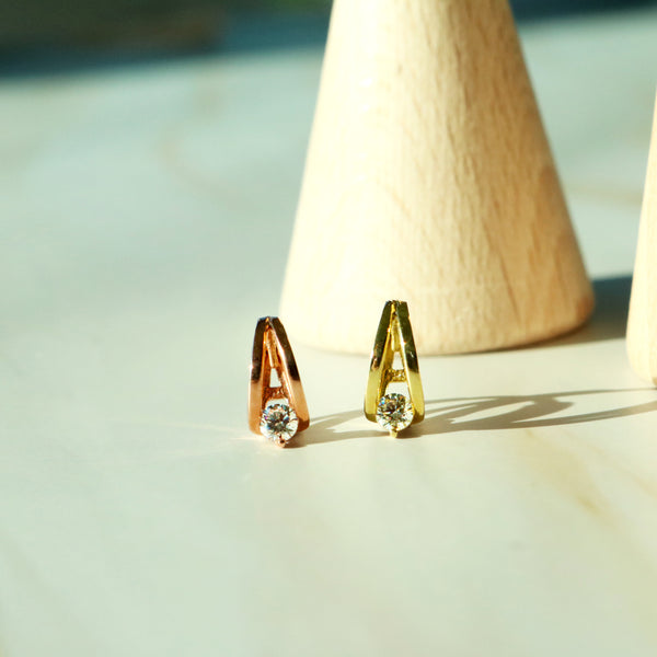 Cubic huggie earrings