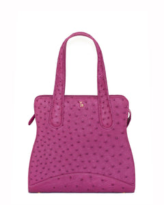 The prettiest shade of Purple or Violet Ostrich Genuine Sustainable Adam Small Tote Yara Bashoor Front Image