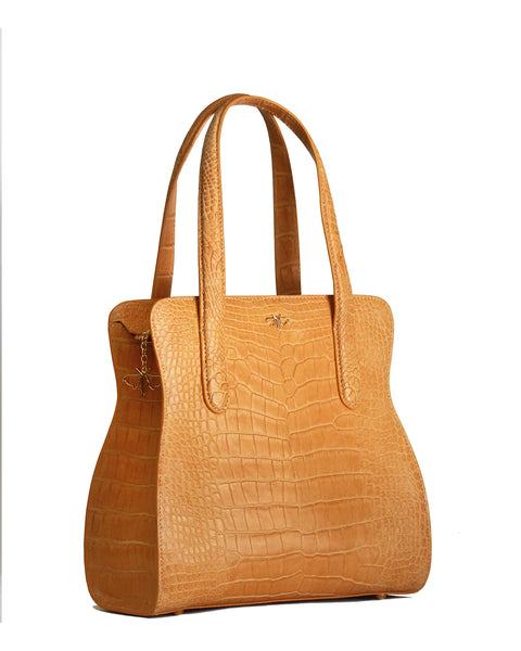 The ADAM S TOTE Genuine American Alligator - Buttercup