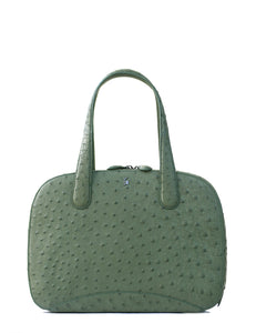 The CHARLES TOTE Genuine Ostrich - Forrest Green
