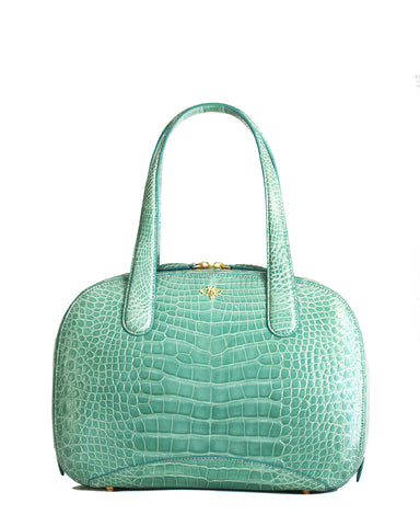 The CHARLES L TOTE Genuine American Alligator - Seafoam Green