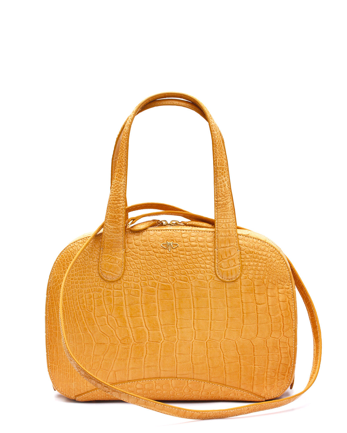 Yara Bashoor Classic Tote called the Charlie with strap Golden Yellow Buttercup Front Product picture