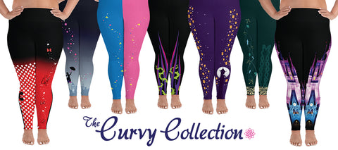 Curvy Collection. Plus size Disney inspired leggings