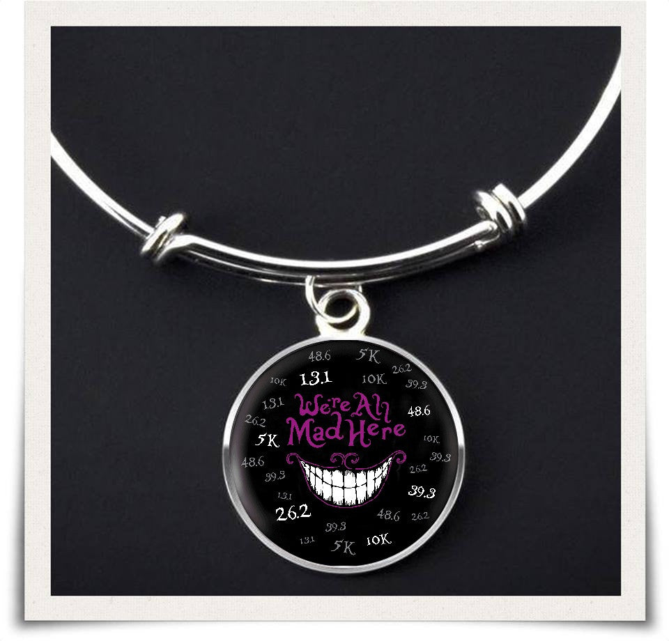 Bangle With Full Color Small Circle Attachment. - We're All Mad Here - Bangle Jewelry