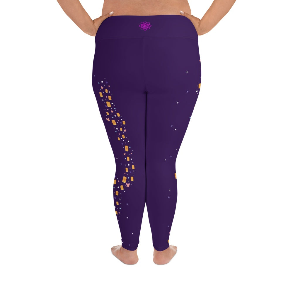 Leggings - Lanterns And Dreams | Curvy Leggings  | Made In The USA