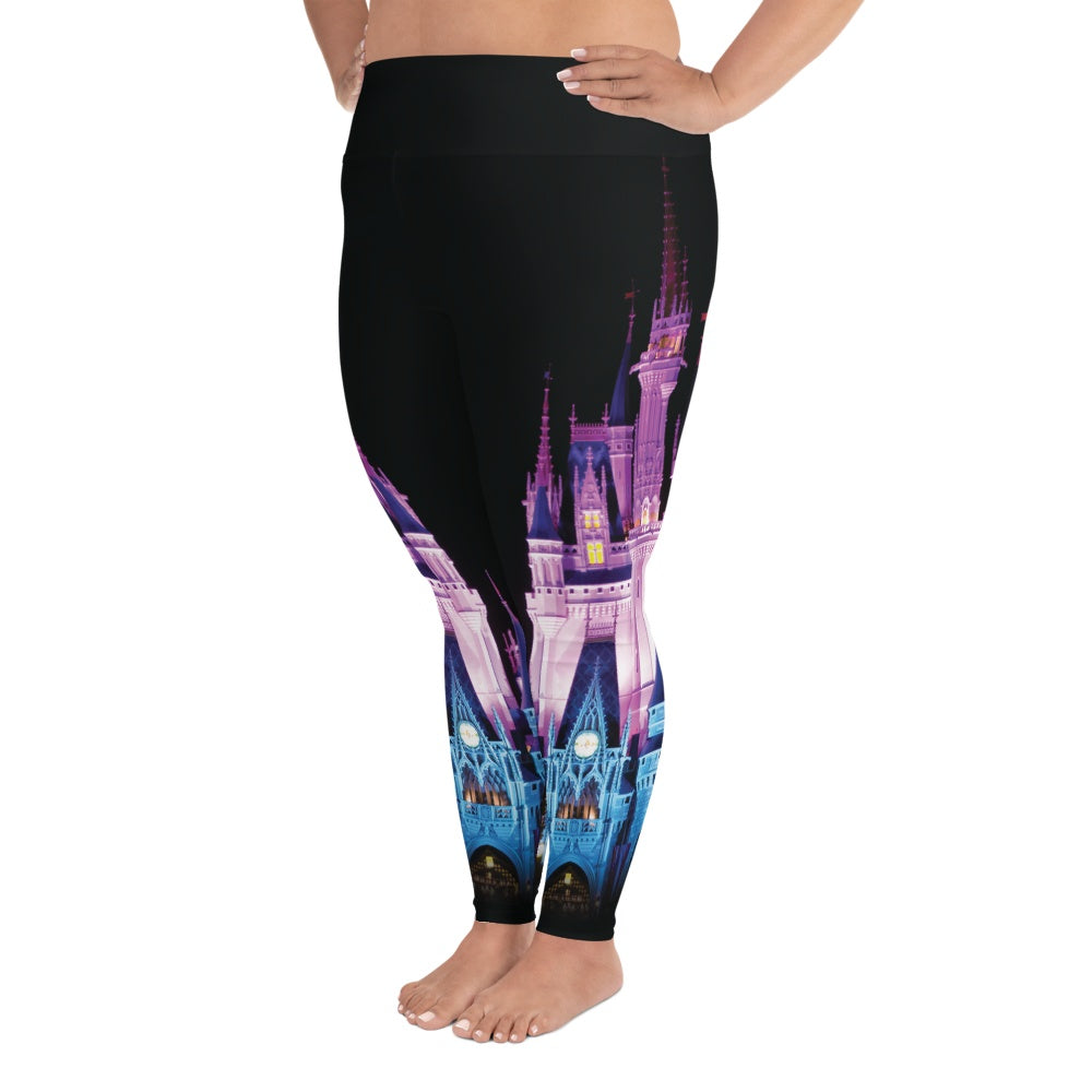 Leggings - Magical Castle | Curvy Leggings  | Made In The USA