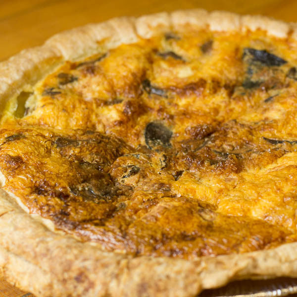 Spinach + Feta Quiche