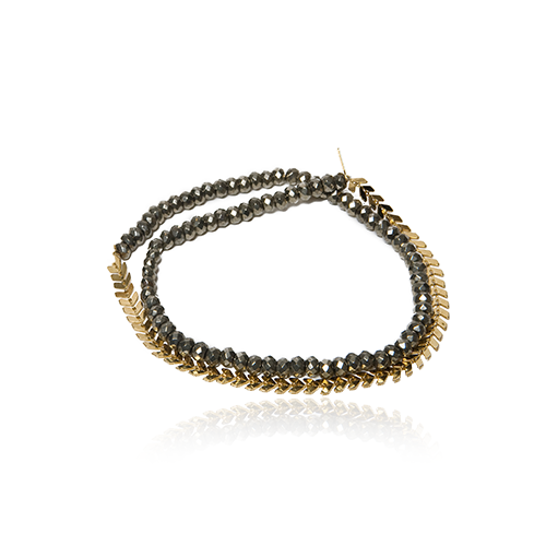 Bulletproof + Gold Wrap Bracelet