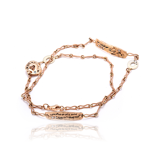 Dress Me In Rose Gold Wrap Bracelet