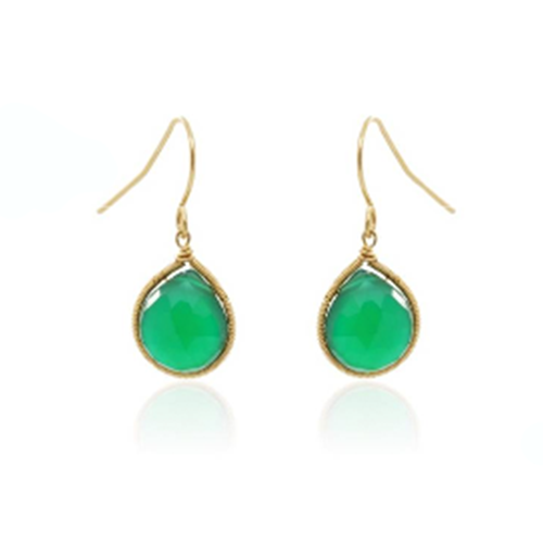 Green Onyx Dangle Earring