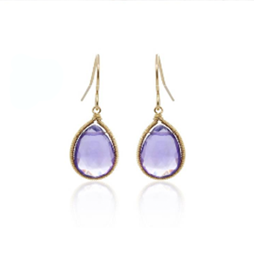 Amethyst Dangle Earring