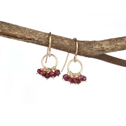Red Garnet Earring