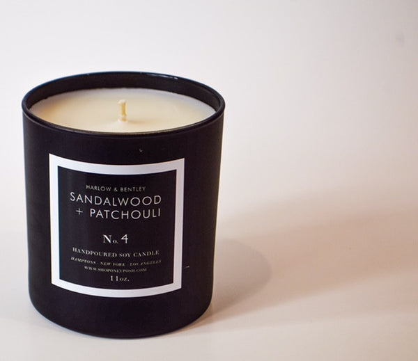 SANDALWOOD + PATCHOULI SOY CANDLE NO. 4