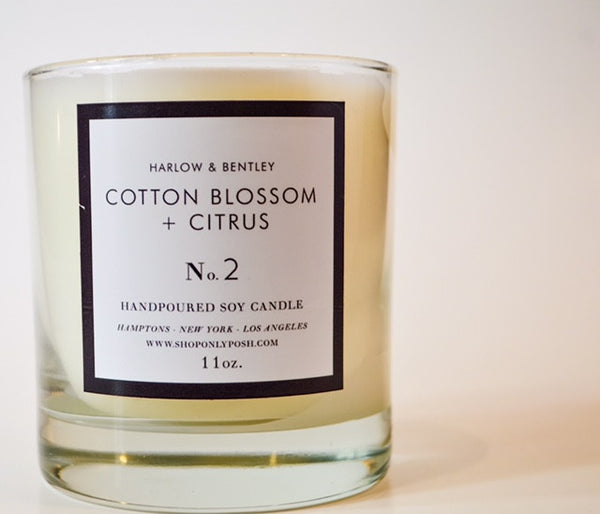 COTTON BLOSSOM + CITRUS SOY CANDLE NO. 2