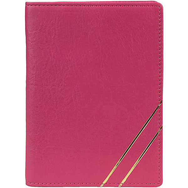 BERRY LEATHER PASSPORT HOLDER by BOULEVARD