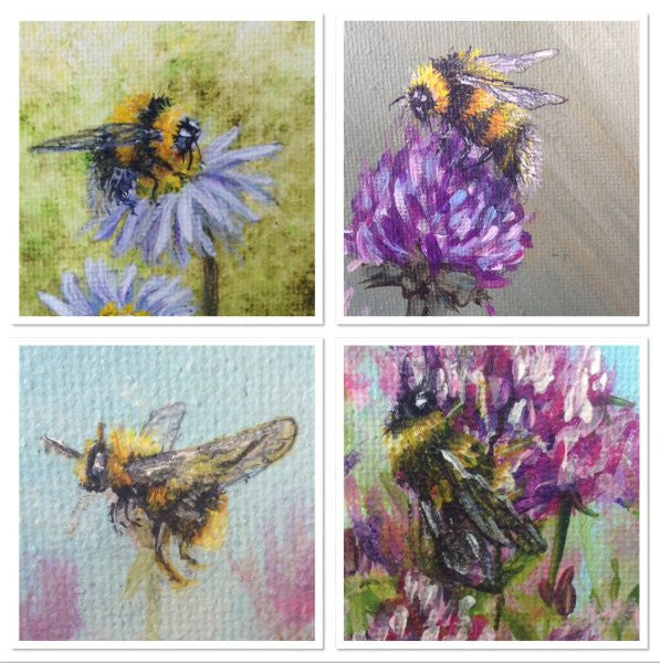 Painting A Fluffy Bumblebee With Acrylic Paint Remote Works
