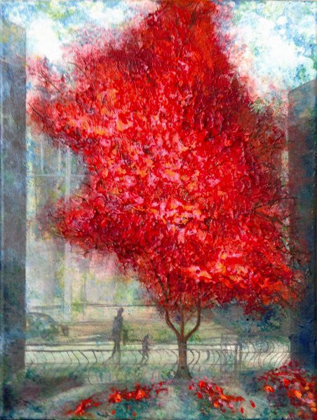 Picture Tutorial, Urban Autumn Series, Red Blaze