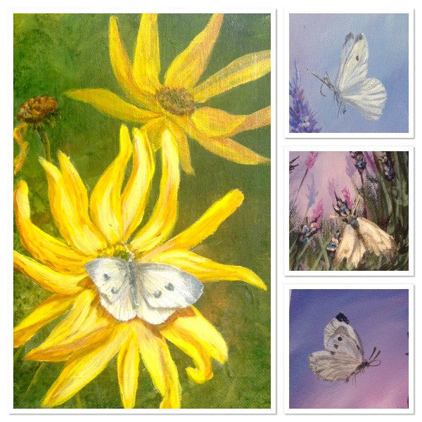How to paint White Butterflies in Acrylic