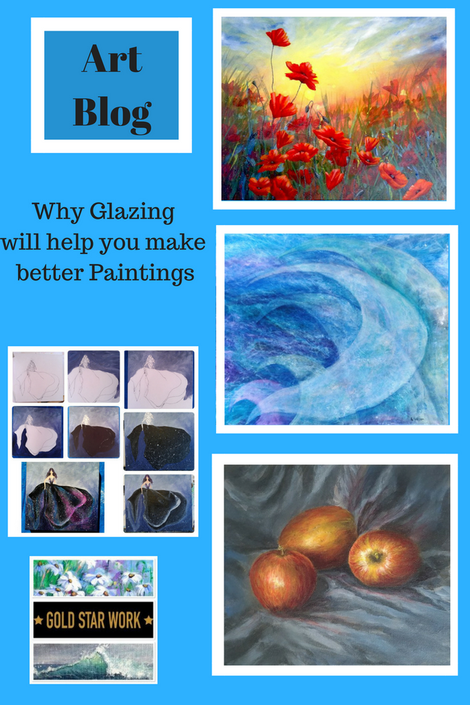 Acrylic Painting Technique, Glazing with Acrylic Paint. Why and how!