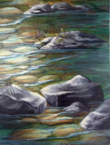 How to paint a Rocky River Bed. Step by step lesson and so easy!