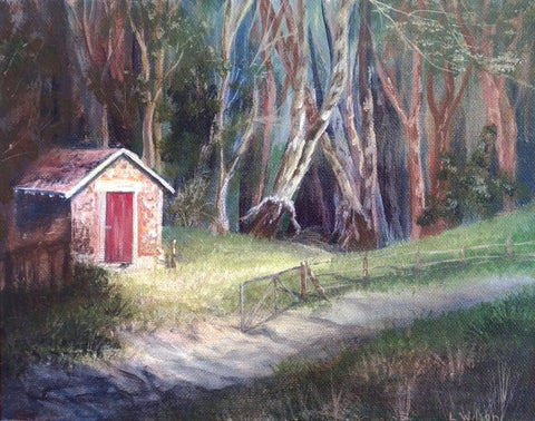 Into the woods art blog about tonal values by Goldstarwork, Artist Laura Wilson