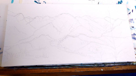 How To Paint A Snowy Mountain Range In Acrylic Paint By Laura