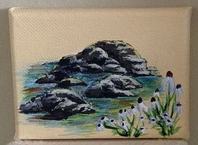 Tutorial on how to Paint Rocks. Art blog by Goldstarwork, Artist Laura Wilson