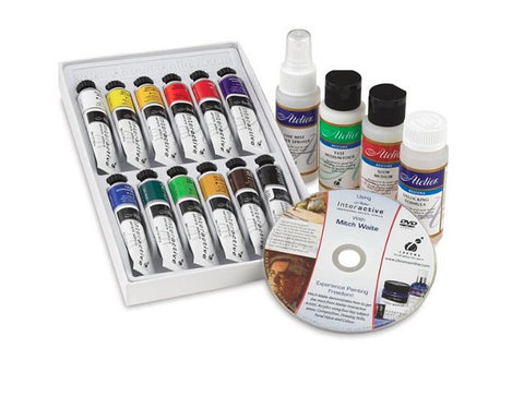 Atelier Interactive acrylic paint set Art Blog on painting in a series by Goldstarwork, Artist Laura Wilson