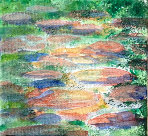Rocks before glazing for river bed, Art Blog. How to paint a rocky river  by Goldstarwork, Artist Laura Wilson