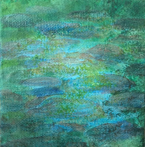 Glazing is to dark. Art Blog How to Paint a rocky river bed by Goldstarwork, Artist Laura Wilson