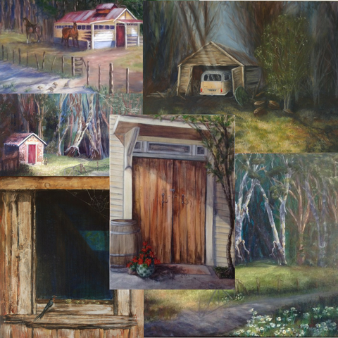 Pukeora Shed Series. 10 easy steps to create an Art series and why you should Art Blog by Goldstarwork, Artist Laura Wilson