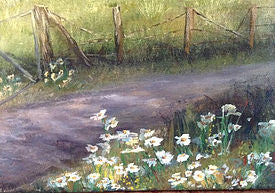 White Daisy Painting