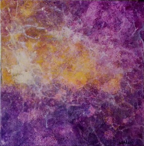 Purple Cloud, Abstract Acrylic Painting